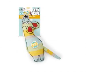 All For Paws Catoon Kicker Curious Mouse Blue