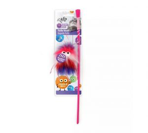 All For Paws Furry Ball Fluffer Wand Red