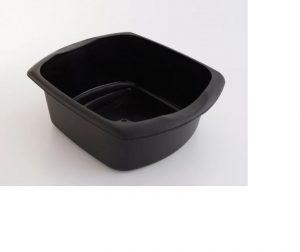 Addis Rectangular Washing Up Bowl Soft Black Large