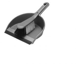 Addis Stiff Dustpan Set Metallic