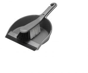 Addis Soft Dustpan Set Metallic