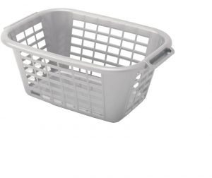 Addis Rectangular Laundry Basket Metallic