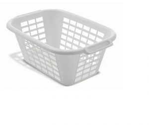 Addis Rectangular Laundry Basket White