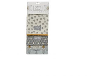 Cooksmart Tea Towels Purity x 3