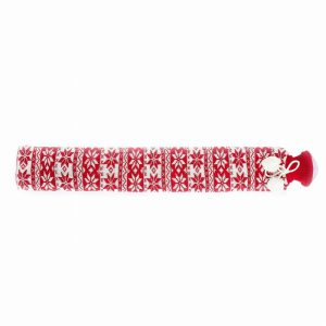 Warmies® Extra Long Hot Water Bottle Red Nordic