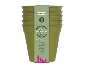 Haxnicks Bamboo Pot 4in Sage Green x 5