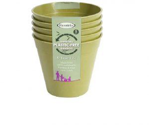Haxnicks Bamboo Pot 6in Sage Green x 5