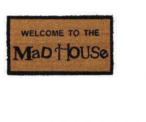 JVL Coir Mat Mad House 33.5cm x 60cm