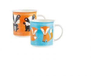China Mug Woodland Animal- Single (Assorted designs)