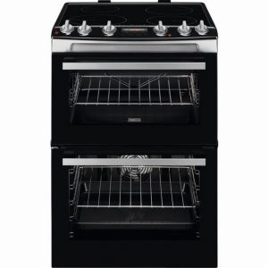 Zanussi ZCI66278XA 60cm Double Oven Electric Cooker S/Steel