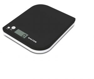 Salter Electronic Kitchen Scales Leaf Black/ White
