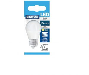 Round LED 5.5W Pearl Edison Screw Boxed