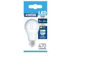 Status GLS LED 6W Pearl Edison Screw Boxed