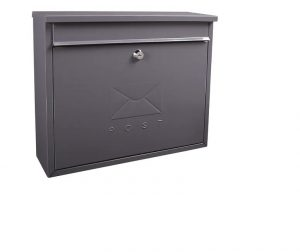 Sterling Elegance Rectangle Postbox Anthracite Large