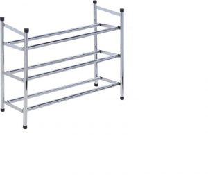 Storage Extendable Shoe Rack 3 Tier Stainless Steel
