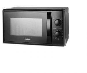 Tower Manual Microwave 700W 20L Black