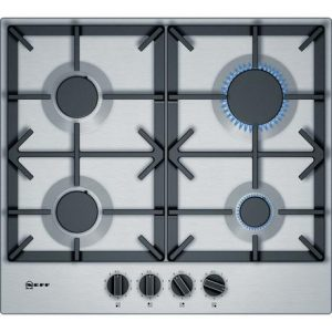 Neff T26DS49N0 58cm Gas Hob – Stainless Steel