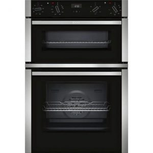 Neff U1ACE2HN0B Electric Double Oven Oven – Black/Steel