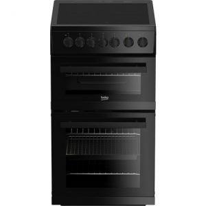 Beko EDVC503B 50cm Double Oven Electric Cooker with Ceramic Hob