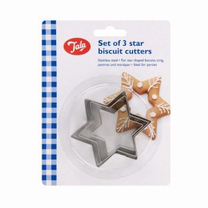 Tala Set of 3 Star Cookie Cutters