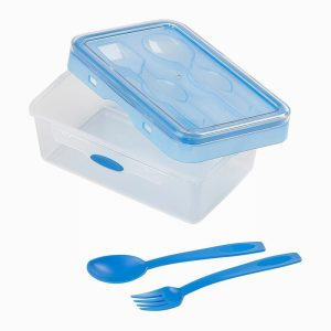 Tala Push and Push Lunch Box with Cutlery
