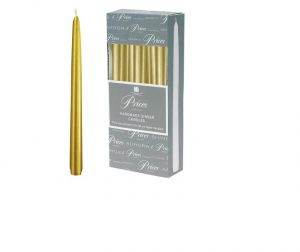Prices Venetian Tapered Candle Gold 10in
