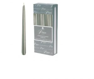 Prices Venetian Tapered Candle Silver 10in