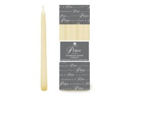 Prices Venetian Tapered Candle White 10in