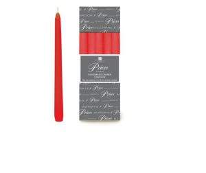 Prices Venetian Tapered Candle Red 10in
