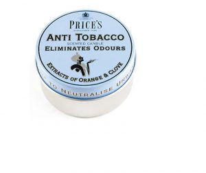 Prices Scented Candle Tin Anti Tobacco