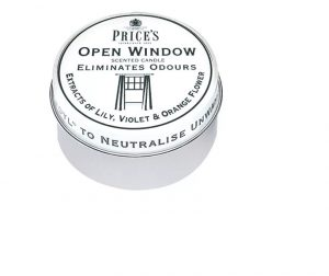 Prices Scented Candle Tin Open Window