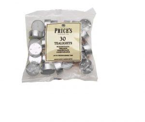 Prices Tealights Bag White x 30