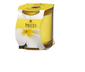 Prices Scented Candle Jar- Frangipani