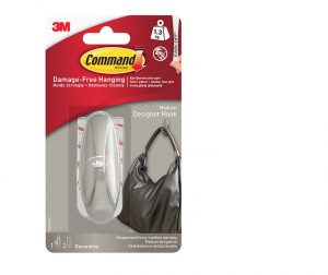 Command Designer Medium Hook Brushed Nickel