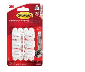 Command Mini Hooks x6