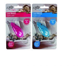 AllForPaws Modern Cat Laser Mouse (Blue or Pink)