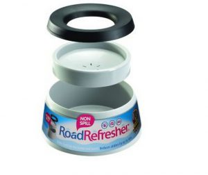 Road Refresher Non Spill Dog Bowl Cream- Small