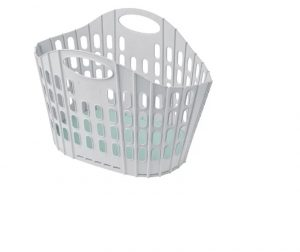 Addis Fold Flat Laundry Basket Green & Grey
