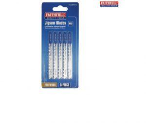 Faithfull Wood Jigsaw Blades Pack of 5 (T111C)