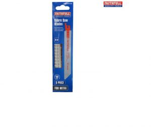 Faithfull S922BF Sabre Saw Blade Metal 150mm 14 TPI (Pack of 5)