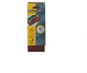 Flexovit Cloth Sanding Belts 457 x 75mm Fine 120G (Pack 2)