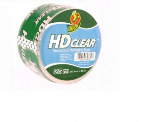 Duck Heavy-Duty Packaging Tape Clear 50mm x 25m