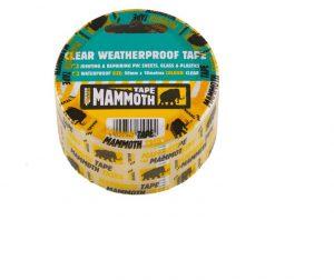 Mammoth Clear Waterproof Tape 50mm x 10m