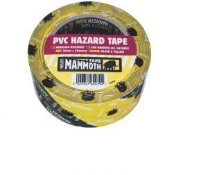 Mammoth Hazard Tape Black/ Yellow 50mm x 33m