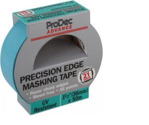 Prodec 36mm x 50m UV Resistant Precision Edge Masking Tape