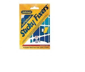 Sellotape Sticky Fix Card x 56 (12 x 25mm)