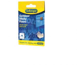 Sellotape Sticky Fixers Outdoor x 48