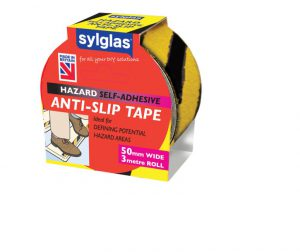 Sylglas Anti-Slip Tape Hazard 50mm x 3m