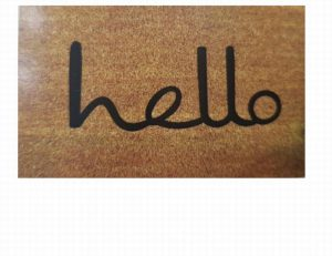 Besp-oak Hello Script Door Mat