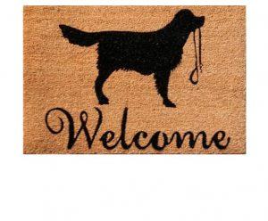 Besp-oak Welcome Dog Silhouette Door Mat